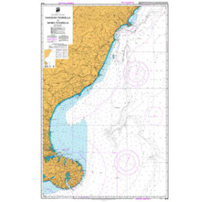 Kaikoura to Banks Penisula Nautical Map Divers